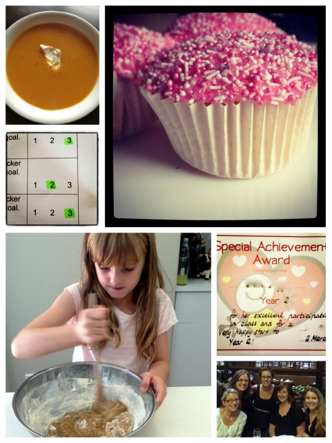 The week that was - cupcakes, pumpkin soup, dinner with friends, baking