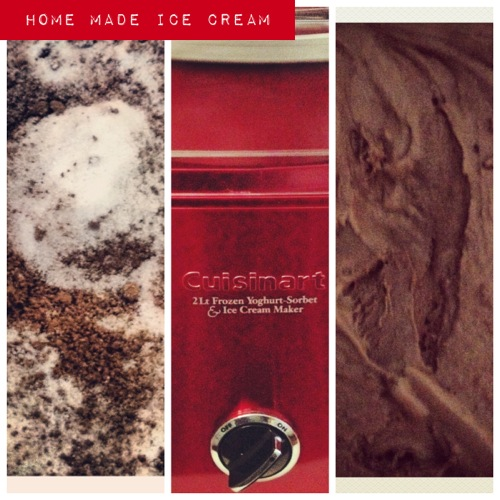 Home made chocolate ice-cream