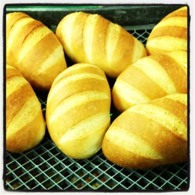 Freshly baked bread at Phillippa's
