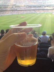 Let there be beer - Hawthorn vs Crows game