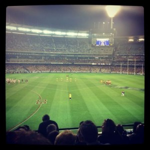 Hawthorn vs Crows game