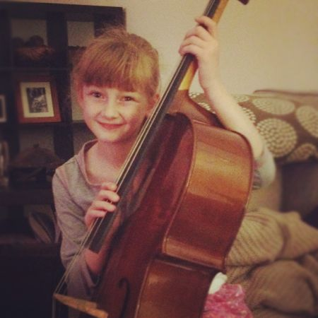 Poss with her cello