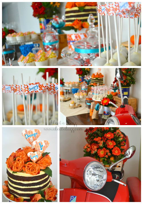 Jo's Wedding, Rustic Italian wedding, blue and orange wedding 2