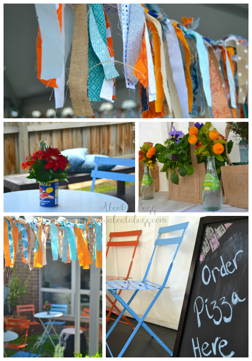 Jo's Wedding, Rustic Italian wedding, blue and orange wedding 3