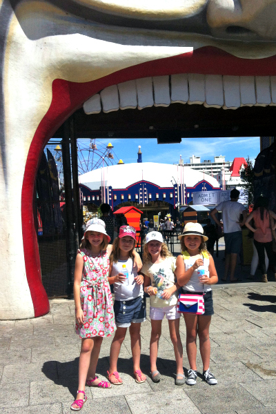 Under the mouth at luna park