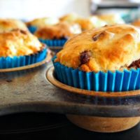 Gluten and egg free banana muffins